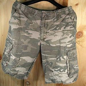 Other - Cargo Vintage Cotton Camoflage Shorts Size 34